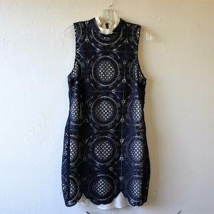 "Anthro Tracy Reese ""Lab"" Navy Blue Eyelet Dress"